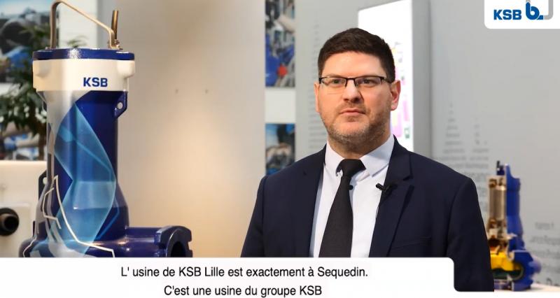 Nicolas Douaud, directeur de l'usine KSB Lille