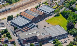 vue aérienne de l'usine de Déville-lès-Rouen