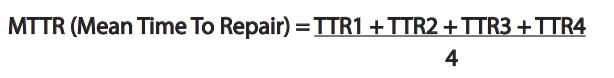 Formule MMTR (Mean Time To Repair)